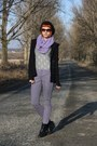 Light-purple-vero-moda-jeans-black-joujou-sweater-ivory-thrifted-shirt