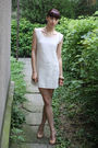 White-stradivarius-dress-beige-bb-up-shoes-beige-from-my-mom-bracelet-beig