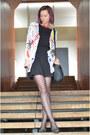 Gray-random-shoes-black-thrifted-dress-black-heart-print-charme-tights