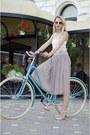Chartreuse-h-m-sunglasses-nude-sandals-asos-flats-tan-tutu-nowistyle-skirt