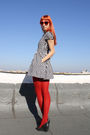 Black-h-m-dress-red-random-tights-dgm-shoes-red-festival-sunglasses