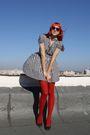 Black-h-m-dress-red-random-tights-dgm-shoes-red-festival-sunglasses