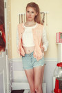 Light-blue-forever-21-shorts-light-pink-varsity-kohls-jacket