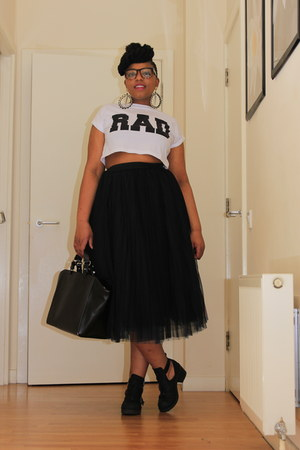 black Joy skirt - Office shoes - white Primark top