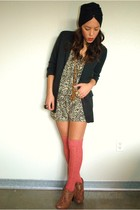 f21 blazer - f21 dress - f21 shoes
