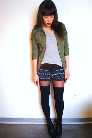 Ebay seller Moussy Shop jacket - Forever 21 shorts - American Apparel socks - Fo