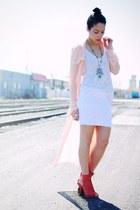 Jeffrey Campbell shoes - UNIF coat - BDG t-shirt - Solemio skirt