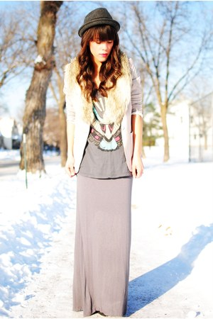 Forever 21 hat - blazer - Forever 21 t-shirt - skirt