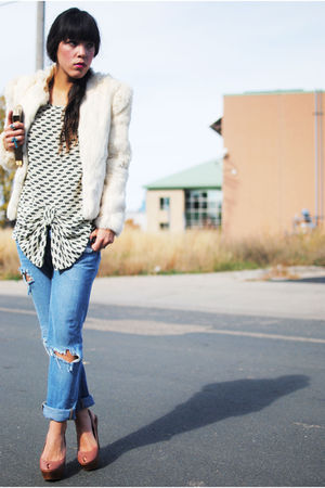 jacket - asos blouse - Forever 21 jeans - Steve Madden shoes