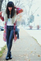 cardigan - scarf - pants - shoes -