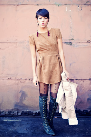 altered Grey Antics dress - Jeffrey Campbell boots - Romwecom jacket