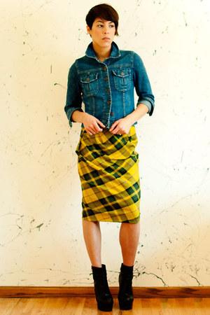 Statement Boutique jacket - Topshop boots - asos skirt