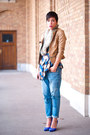 Levis-jeans-romwecom-jacket-h-m-scarf-asoscom-top-topshop-heels