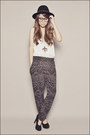 Black-forever-21-pants-white-forever-21-top-black-forever-21-shoes-silver-