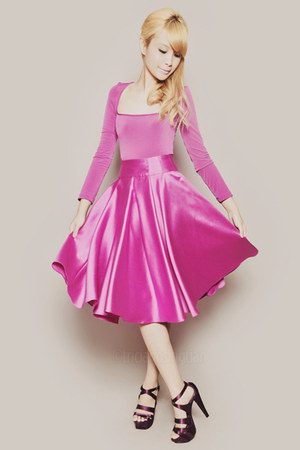 hot pink Wild Honey top - hot pink Wild Honey skirt