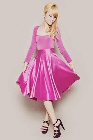 hot pink Wild Honey top - hot pink Wild Honey skirt