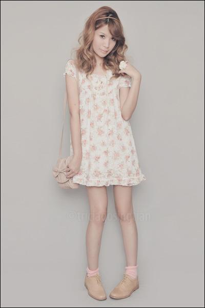 tan Anthology shoes - ivory C-O-L-Z-A dress - light pink Zara bag - pink H&M soc