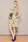 Black-clutch-dorothy-perkins-bag-light-yellow-clothes-for-the-goddess-dress