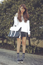 White-two-tone-cecil-mcbee-sweater-black-two-tone-emoda-bag