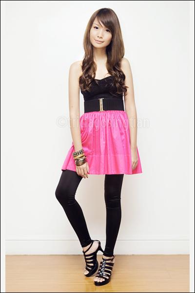 Topshop top - cecil mcbee belt - Mphosis skirt - Topshop leggings - Mphosis shoe