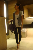 vest - leggings - shoes - balenciaga purse