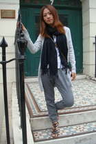 Zara sweater - H&M scarf - JCrew t-shirt - Zara pants