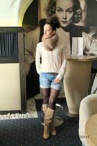 Zara boots - Zara shirt - Zara shorts