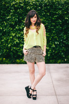 lime green No Rest for Bridget top - black MinkPink shorts