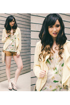 light yellow No Rest for Bridget jacket - off white Lovers  Friends top