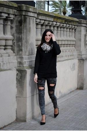 Zara jumper - Zara pants - Zara heels