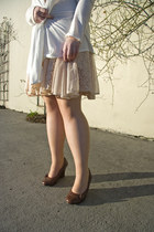 beige leg avenue tights - eggshell nylon lace Anthropologie dress
