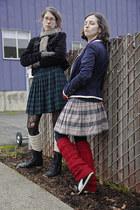 black fleece-lined tabbisocks tights - black kalana crochet B Ella tights