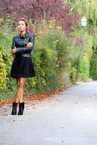 black Sonia Rykiel for H&M skirt - black Zara boots - black new look jacket