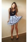 Black-cotton-tank-forever21-shirt-black-polka-dot-skirt-bebe-skirt