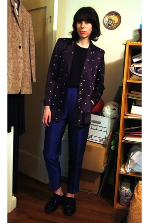 navy Future Ozbek blazer - blue YSL pants