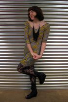 Motel dress - Jeffrey Campbell shoes - Urban Outfitters tights - Rustyban Outfit