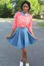 Forever-21-sweater-denim-thrifted-shirt-denim-custom-made-skirt