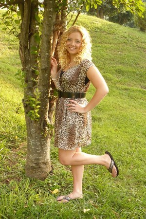 cheetah print dress