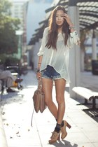 white Anarchy Street shirt - neutral haven satchel botkier bag