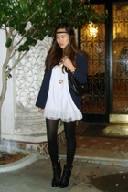 blazer - dress - songofstyleetsycom accessories - Steve Madden boots