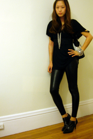forever 21 top - American Apparel pants - RossNine West shoes - Chanel purse