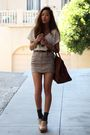 white eyelet top H&M top - beige clogs Jeffrey Campbell shoes