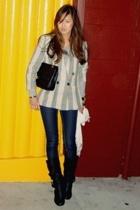 vintage from Search & Destroy blazer - Arden B jeans - Steve Madden boots