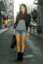 Arden B jacket - American Apparel t-shirt - Dirty Laundry boots