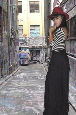 Primark skirt - H&M dress - hat accessories