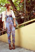 camel Zara accessories - eggshell 1 crochet thrifted cardigan - blue jump Bershk