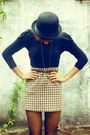 Black-forever-21-hat-black-zara-shirt-brown-thrift-skirt-black-thrift-tigh