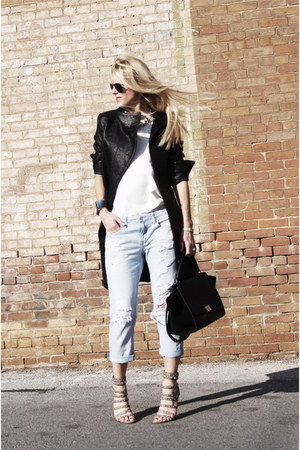 rag & bone coat - Forever 21 jeans - Celine bag - Zara blouse