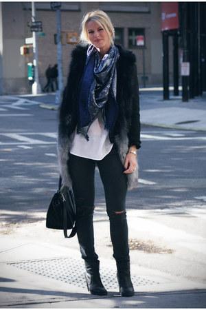 Celine bag - mm6 boots - Current Elliott jeans
