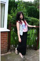 vintage skirt - denim gillet Primark jacket